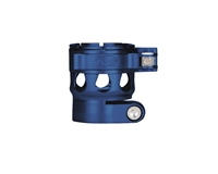 Custom Products Lever Lock Clamping Feed Neck - Planet Eclipse Early Model Ego/Etek Thread - Dust Blue