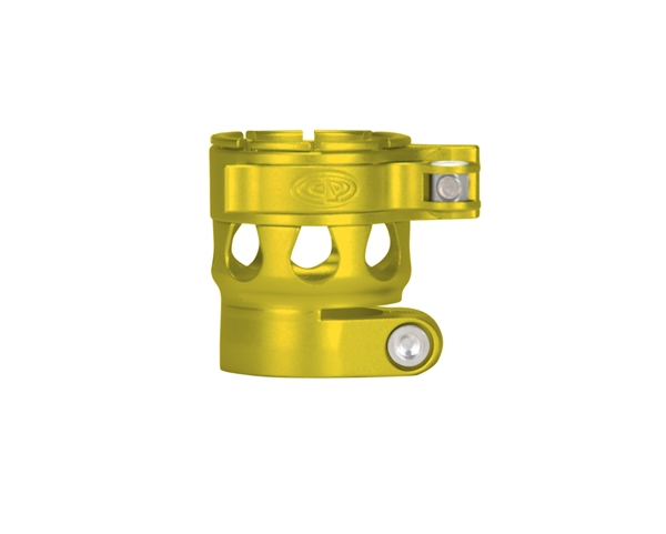 Custom Products Lever Lock Clamping Feed Neck - Planet Eclipse Late Model Ego/Etek Thread - Dust Yellow