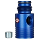 Custom Products Inline Regulator Gauge Port Adapter - Dust Blue