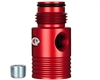 Custom Products Inline Regulator Gauge Port Adapter - Dust Red