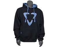 DLX Pull Over Hooded Sweatshirt - Logo - Black/Blue