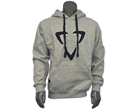 DLX Pull Over Hooded Sweatshirt - Logo - Grey/Black
