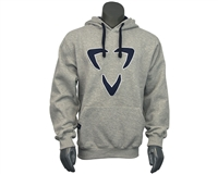 DLX Pull Over Hooded Sweatshirt - Logo - Grey/Blue