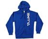 DLX Luxe Zip Up Hooded Sweatshirt - Heather Blue