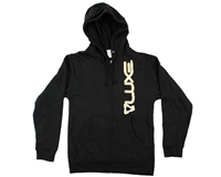 DLX Zip-Up Hooded Sweatshirt - Luxe - Black/White