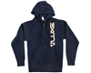 DLX Zip-Up Hooded Sweatshirt - Luxe - Dark Heather Blue
