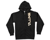 DLX Zip-Up Hooded Sweatshirt - Luxe - Dark Heather Grey