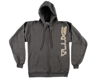 DLX Zip-Up Hooded Sweatshirt - Luxe - Grey