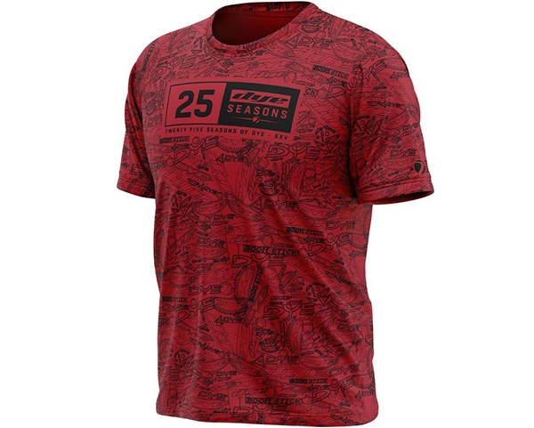 Dye Fit 25 Season T-Shirt - Red