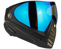 Dye I4 Invision Pro Mask - Black/Gold - Dyetanium Blue Ice Lens