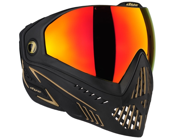 Dye i5 2.0 Mask - Onyx Gold - Dyetanium Northern Fire Lens