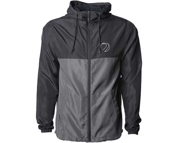 Dye Gas Lamp Zip Up Jacket - Windbreaker - Black/Charcoal