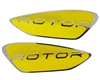 Dye Rotor Bottom Shell Replacement Logo Set (Left & Right) - Yellow