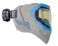 Empire EVS Mask w/ Recon Heads Up Display - Grey/Cyan