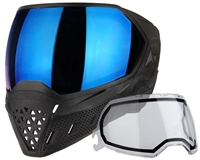 Empire EVS Mask - Black/Black with Blue Mirror Lens