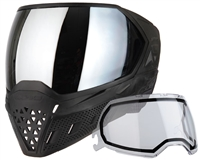 Empire EVS Mask - Black/Black with Silver Mirror Lens
