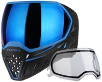 Empire EVS Mask - Blue/Black with Blue Mirror Lens