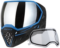 Empire EVS Mask - Blue/Black with Silver Mirror Lens
