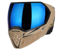 Empire EVS Mask - Tan/Black with Blue Mirror Lens