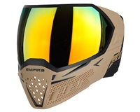 Empire EVS Mask - Tan/Black with Fire Lens