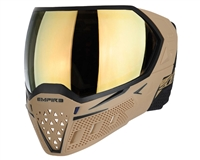 Empire EVS Mask - Tan/Black with Gold Mirror Lens