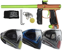 Empire Mini GS Paintball Gun w/ Dye Invision Goggle I4 Pro Mask