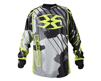 Empire 2016 Contact Zero F6 Paintball Jersey - Urban/Lime