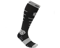 Exalt Compression Athletic Socks - Black/Grey