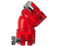 45 Degree Universal Feed Neck W/Locking Screws - Red