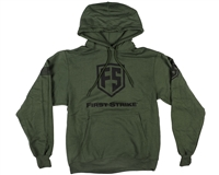 First Strike Hooded Pull Over Sweatshirt - Shield - Olive Drab
