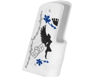 Gen X Global 45 Degree Wrap Around Grips - Rockstar - White/Black/Blue