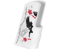 Gen X Global 45 Degree Wrap Around Grips - Rockstar - White/Black/Red