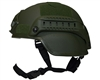 Valken Tactical Airsoft Helmet - MICH 2000 w/ Mount & Rails - Green