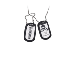 HK Army Dog Tags - Silver