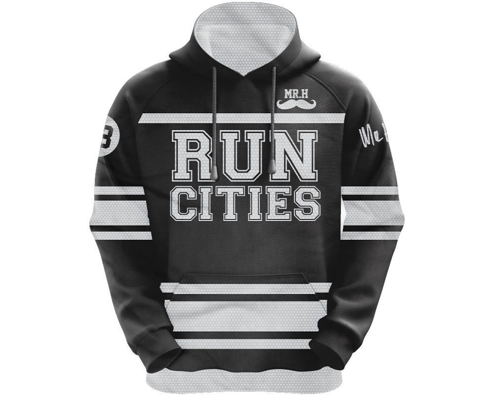 e9d637200 HK Army Run Cities Pull Over Hooded Sweatshirt - Black