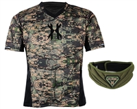 HK Army Crash Padded Chest Protection w/ Free Olive HSTL Neck Protector - Camo
