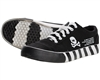 HK  Army Canvas Sneaker Shoes - Off Break - Black/White