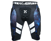 HK Army Crash Padded Slide Shorts - Black/Blue
