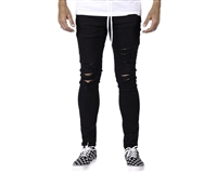 HK Army Thrasher Distressed Slim-Skinny Style Denim Jeans