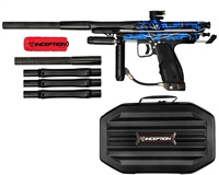 Inception Designs Autococker Retro FLE Paintball Gun - Blue Splash