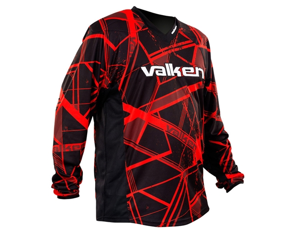 Valken Crusade Jersey - Hatch Red