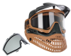 Jt ProFlex Thermal Paintball Mask - 2.0 Limited Edition Black/Brown w/ Black Visor
