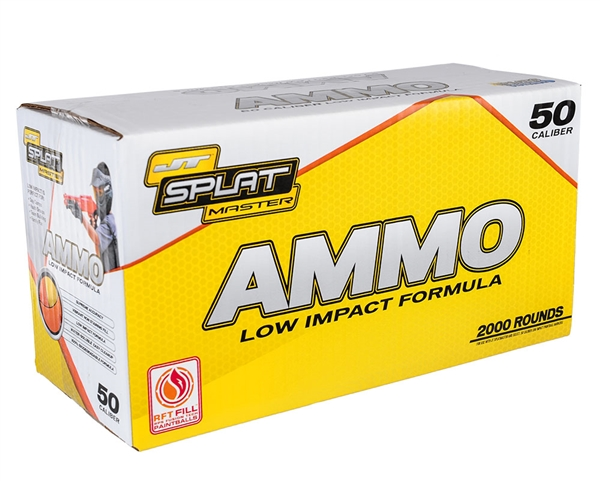 JT Splatmaster 2000ct .50 Cal Paintball Ammo - White Fill