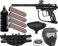 Kingman Spyder Victor Epic Paintball Gun Kit - Diamond Black