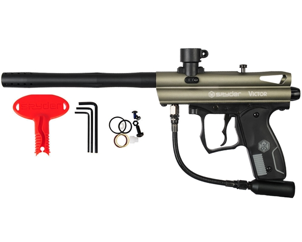 2012 Kingman Spyder Victor Semi-Auto Paintball Gun - Olive Green