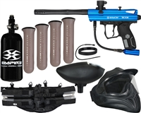 Kingman Spyder Victor Legendary Paintball Gun Kit - Gloss Blu