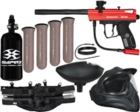 Kingman Spyder Legendary Victor Paintball Gun Package Kit - Gloss Red