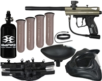 Kingman Spyder Victor Legendary Paintball Gun Package Kit - Olive Green