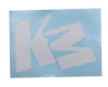 KM Logo Sticker - White