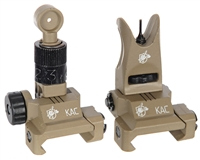 Knight's Armament Iron Sights - Back Up - Tan